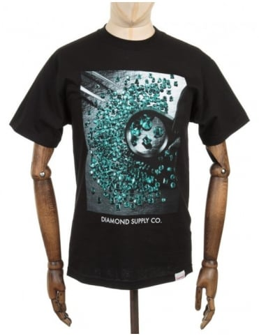 Diamond Supply Co Gem Quality Photo T-shirt - Black