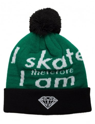 I Am Fold Beanie - Black/Green