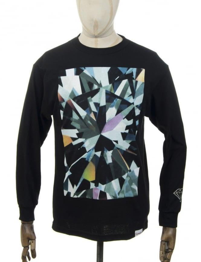Diamond Supply Co L/S Simplicity T-shirt - Black
