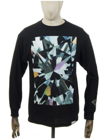 Diamond Supply Co L/S Simplicity T-shirt - Black