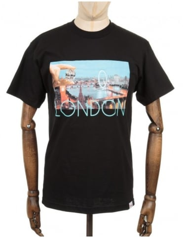 Diamond Supply Co London Life Photo T-shirt - Black