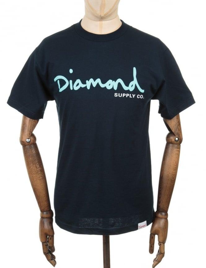 Diamond Supply Co OG Script T-shirt - Navy