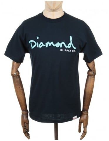 Diamond Supply Co OG Script T-shirt - Navy