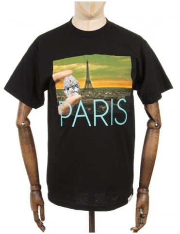 Diamond Supply Co Paris Life Photo T-shirt - Black