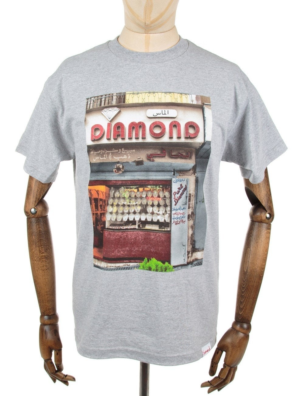 Diamond Supply Co Pure Tee - Heather Grey - T Shirts from ...