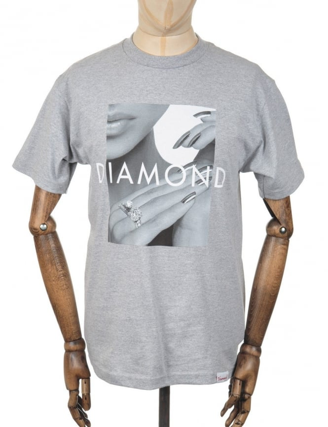 Diamond Supply Co Ring Girl T-shirt - Heather Grey