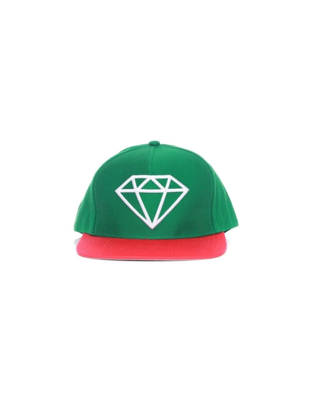c9a169ad134 Diamond Supply Co Rock Snapback Hat - Green White - Hat Shop from ...