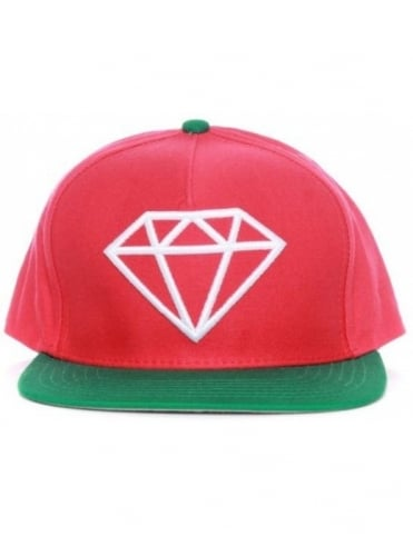 Rock Snapback Hat - Red/Green