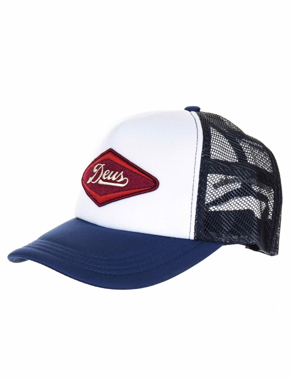 17c7cb1d8ea Deus Ex Machina Diamond Trucker Hat - Navy - Accessories from Fat Buddha  Store UK