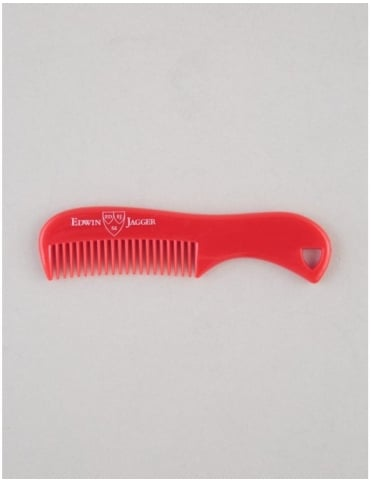 Edwin Jagger Beard and Moustache Comb - Red