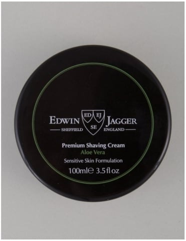 Edwin Jagger Premium Shaving Soap Tub - Aloe Vera (100ml)