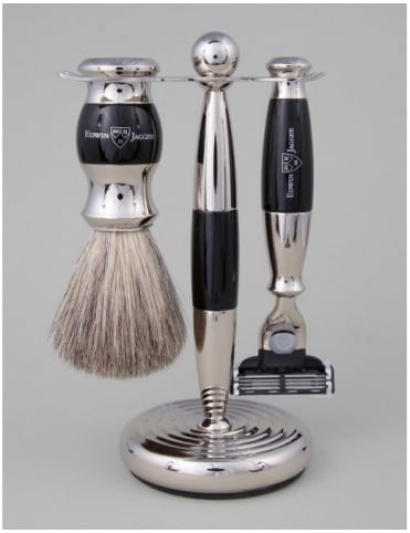 Razor 3 piece Set - Mach 3 (Ebony & Chrome)