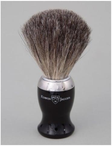 Edwin Jagger Shaving Brush - Pure Badger - Ebony (Nickel)