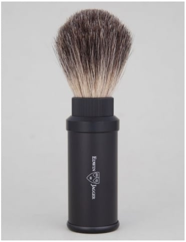 Travel Shaving Brush (Pure Badger) - Black