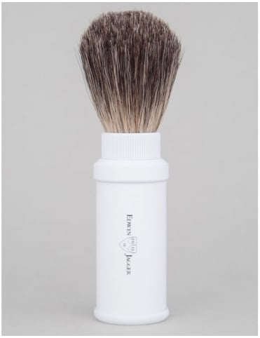 Travel Shaving Brush (Pure Badger) - White
