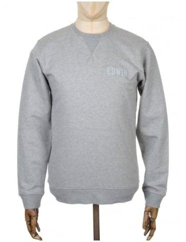 Edwin Jeans Classic Logo Sweatshirt - Grey Marl