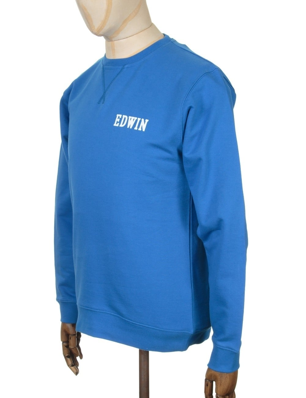 eb190b65c43 Edwin Jeans Classic Logo Sweatshirt - Royal Blue - Clothing from Fat ...