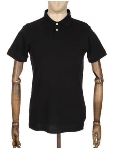 Edwin Jeans Classic Polo Pique Shirt - Black