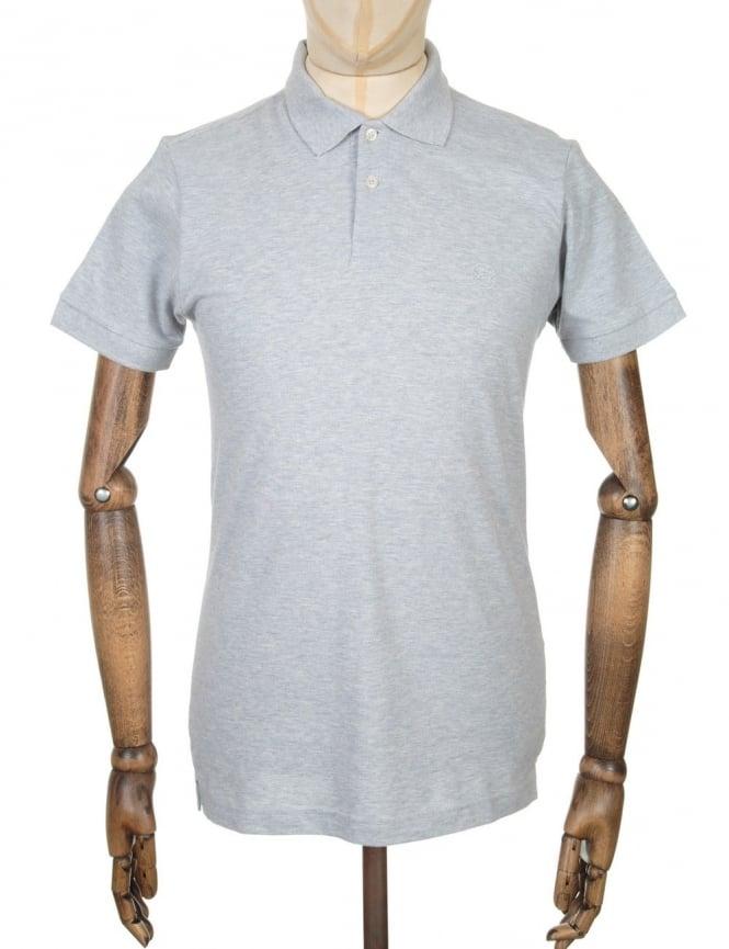Edwin Jeans Classic Polo Pique Shirt - Grey Marl