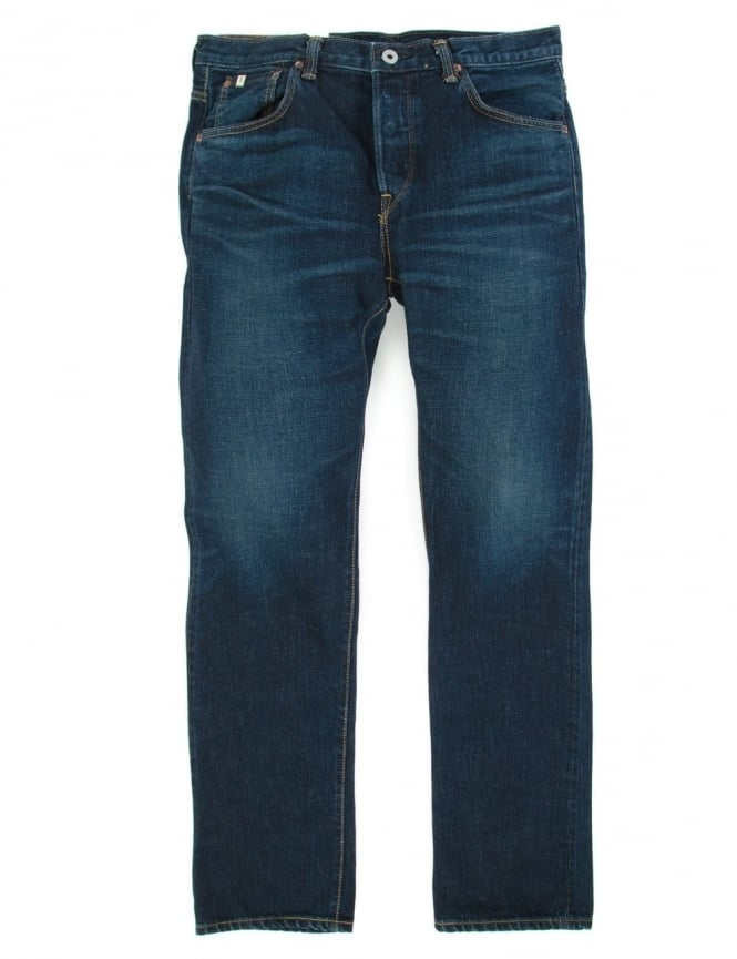 Edwin Jeans Classic Regular Straight Rainbow Selvedge Denim - Dark Used Wash