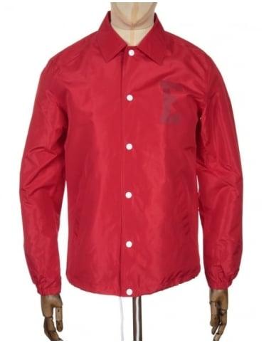 Edwin Jeans Coach Jacket - Red Twill