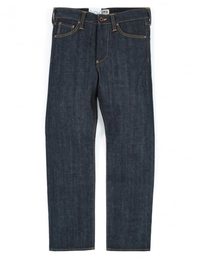 Edwin Jeans ED-35 Regular Loose Red Listed Selvedge Denim - Unwashed