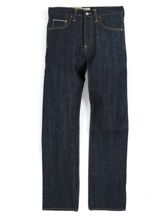 Edwin Jeans ED-39 Regular Loose Red Listed Selvedge Denim - Unwashed