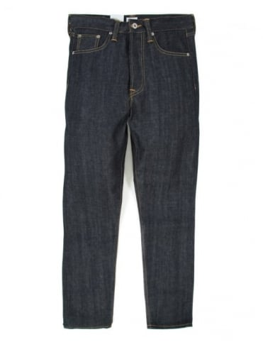 ED-45 Loose Tapered Red Selvedge Denim - Unwashed