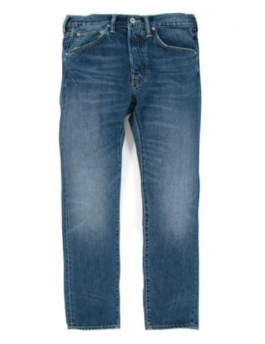 Edwin Jeans ED-55 Slim Tapered Deep Blue Denim - Savage Wash