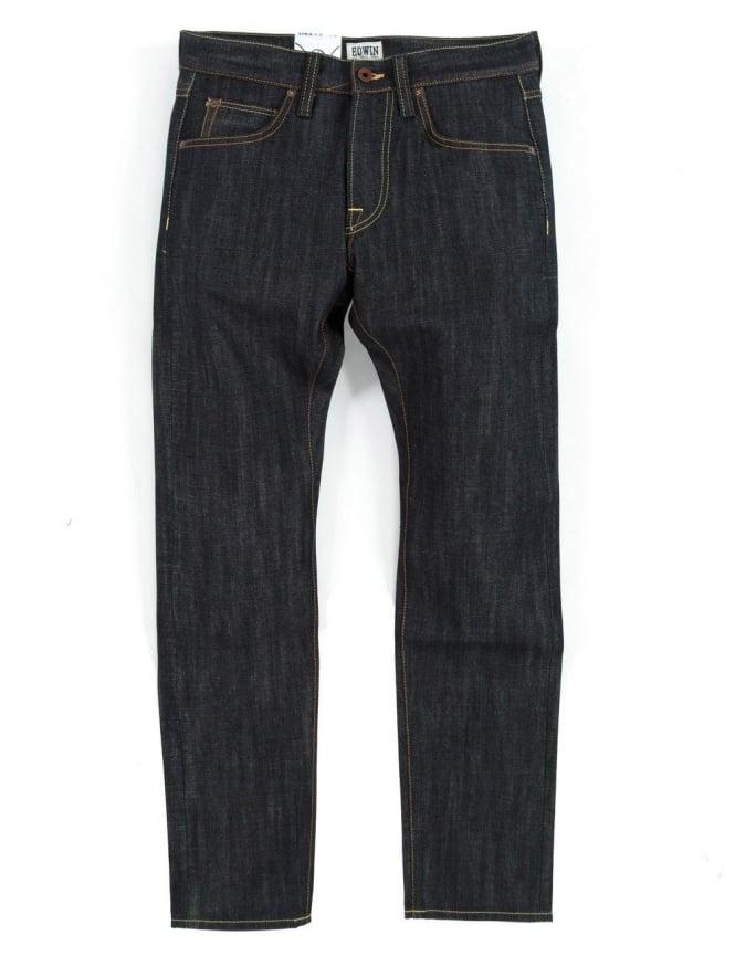 Edwin Jeans ED-55 Slim Tapered Rainbow Selvedge Denim - Unwashed