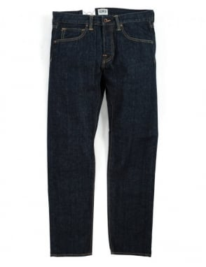 Edwin Jeans ED-55 Slim Tapered Red Listed Selvedge Denim - Blue Rinsed