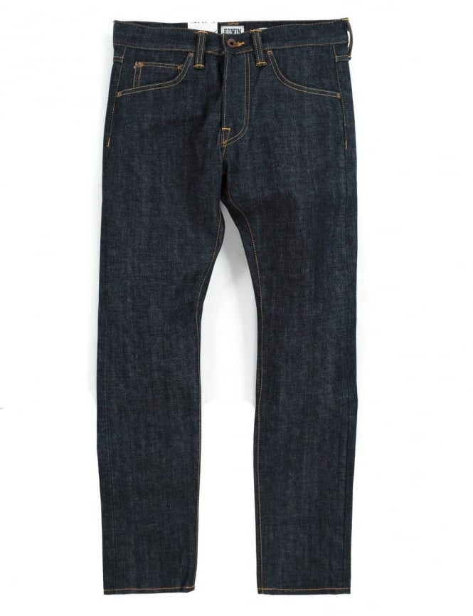 Edwin Jeans ED-55 Slim Tapered Red Listed Selvedge Denim - Unwashed