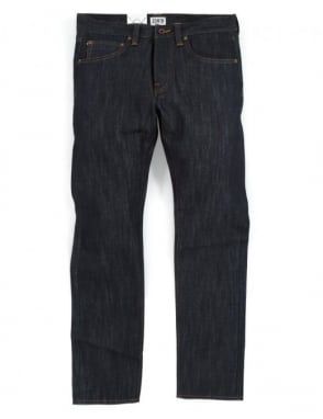 Edwin Jeans ED-55 Slim Tapered White Listed Selvedge Denim - Unwashed