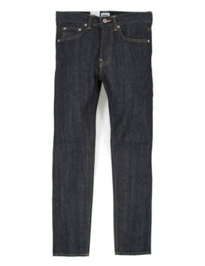 Edwin Jeans ED-80 Slim Taper Red Listed Selvedge Denim - Unwashed