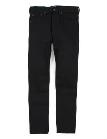 Edwin Jeans ED-80 Slim Taper White Listed Selvedge Denim - Black Unwashed