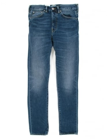 Edwin Jeans ED-80 Slim Tapered Deep Blue Denim - Savage Wash