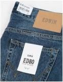Edwin Jeans ED-80 Slim Tapered Deep Blue Denim - Savage Wash