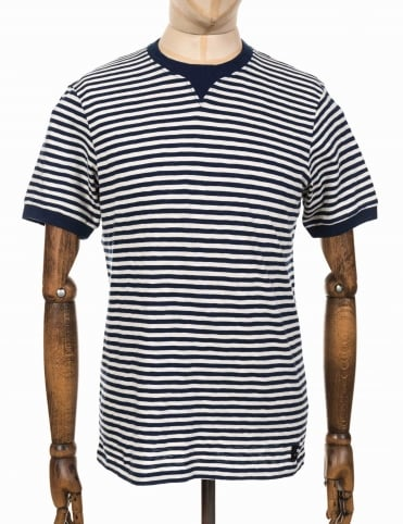 International Striped Tee - Natural/Navy