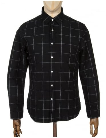 Edwin Jeans L/S Essential Shirt - Black Stripe