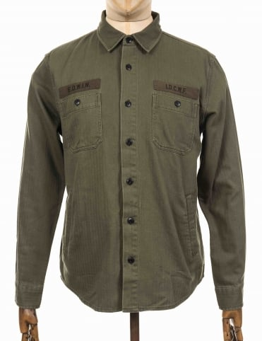 L/S Labour 4 Pocket Shirt - Military Green