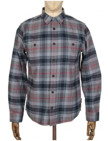 Edwin Jeans L/S Labour Shirt - Battle Grey Check