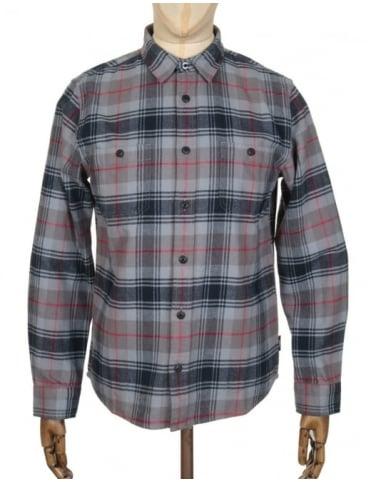 Edwin Jeans L/S Labour Shirt - Battle Grey Check