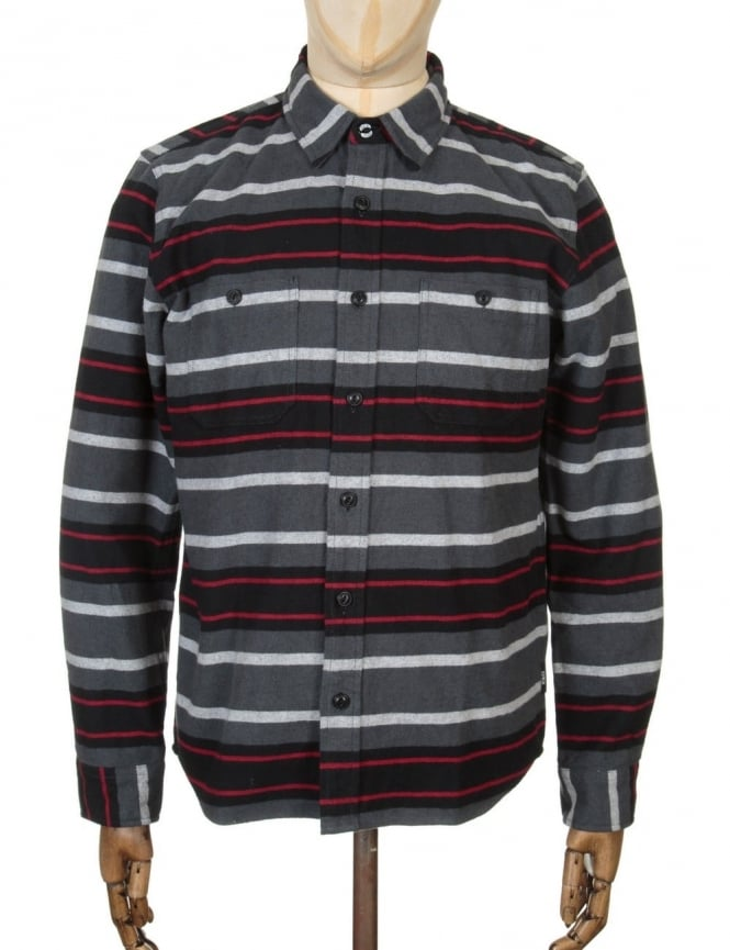 Edwin Jeans L/S Labour Shirt - Dark Grey/Black