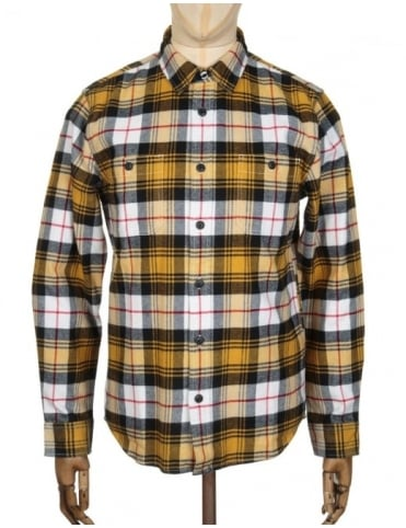 Edwin Jeans L/S Labour Shirt - Mustard Check