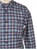 Edwin Jeans L/S Labour Shirt - Navy/Off White Check