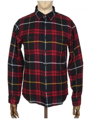 Edwin Jeans L/S Labour Shirt - Red/Black Check