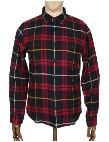 Edwin Jeans L/S Labour Shirt - Red/Black Check