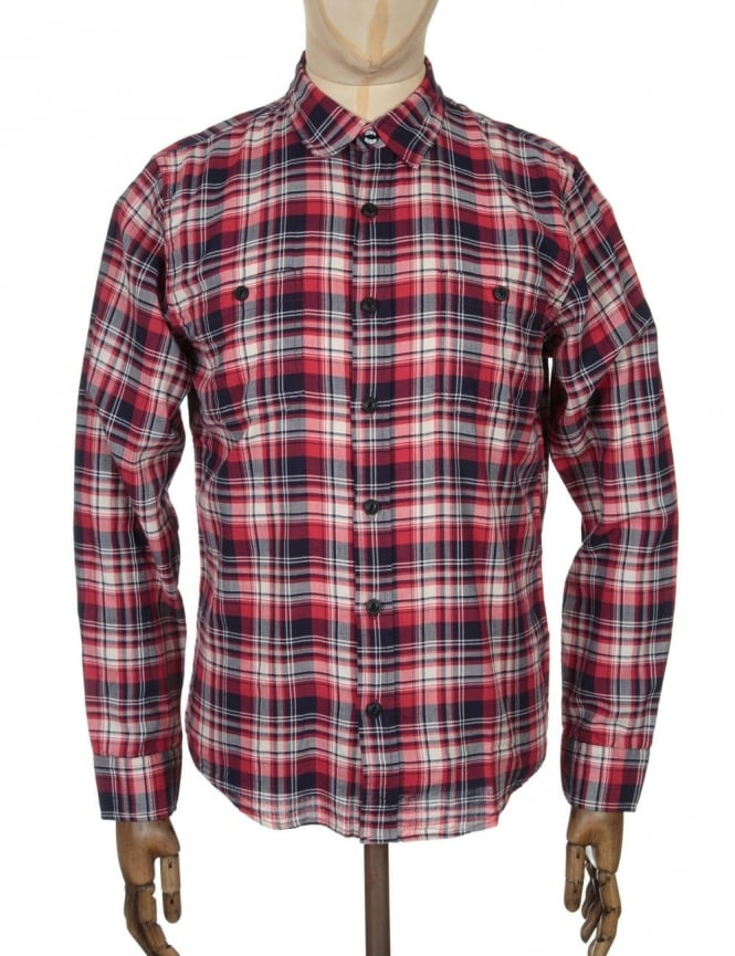 Edwin Jeans L/S Labour Shirt - Red Herringbone