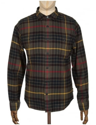 Edwin Jeans L/S Labour Shirt - Uniform Green Check