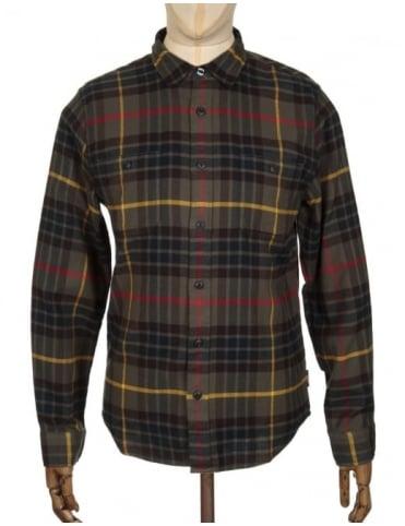 Edwin Jeans L/S Labour Shirt - Uniform Green Check